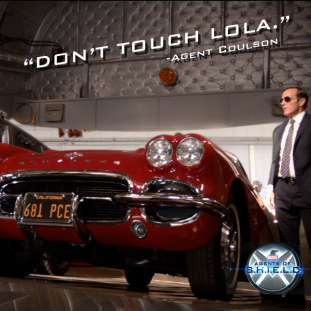 Agent Coulson don't touch lola